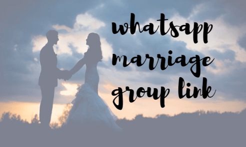 WhatsApp Marriage Group Link