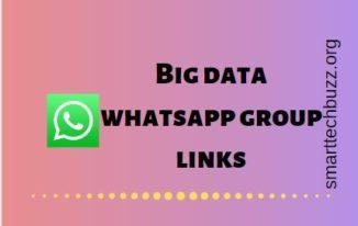 Big data whatsapp group link