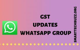 gst updates whatsapp group