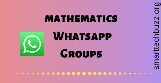Mathematics whatsapp group link