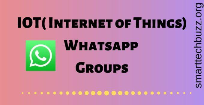 IOT Whatsapp Group Link