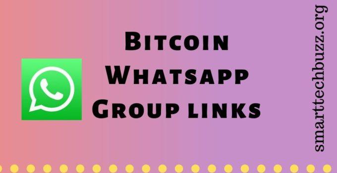 Bitcoin group on whatsapp