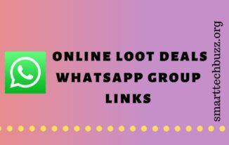 online loot deals whatsapp group links