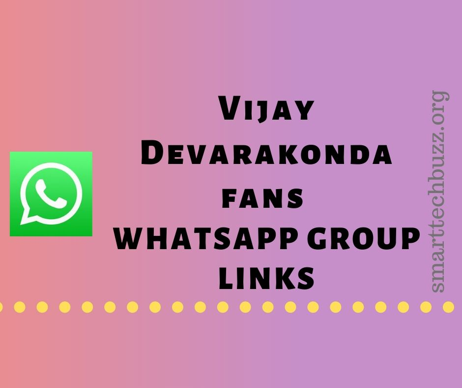 Vijay Devarakonda Fans Whatsapp Group Links