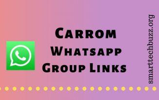Carrom Whatsapp group link