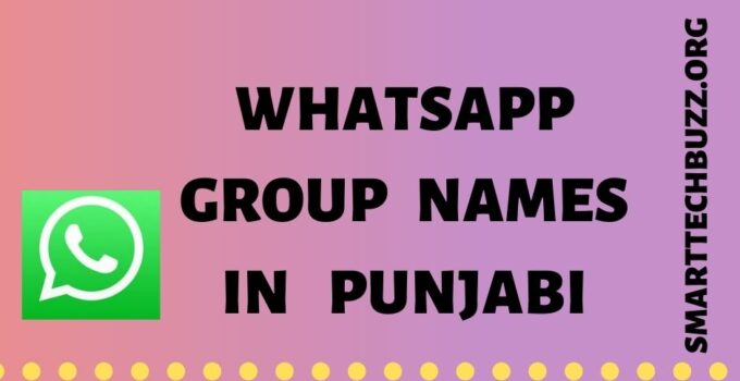 Punjabi Group Names
